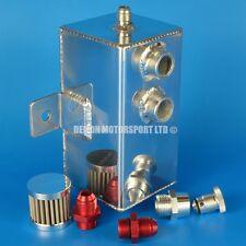 1 Ltr AN8 -8 Alliage Récupérateur d'huile peut avec reniflard filtre & Drain Sump Plug