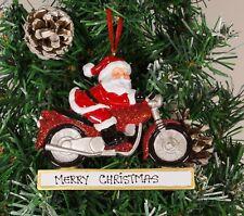 ALBERO di Natale personalizzata Ornamento Decorazione-Santa MOTO