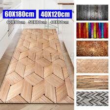 16''x47'' Door Kitchen Area Rug Floor Carpet Non-slip Wood Grain Printed Mat Pad