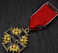 WWII German EK2 Iron Cross Medal Army Military Badges Ribbon Pin Emblem with box