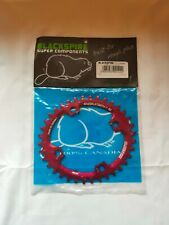Blackspire snaggletooth Oval Chainring 104/36t Red