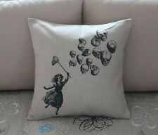 Vintage Girl Sugar Skull Cotton Linen Throw Pillow Cushion Cover Home Decor Z574