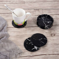 7 Pcs/Set Round Drink Coasters with Holder Base for Home Kitchen Bar Decoration