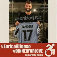 Immobile Lazio maglia preparata Serie A 2019 2020 match worn issued shirt COA