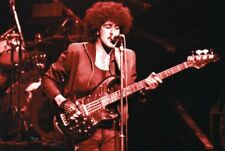 THIN LIZZY PHIL LYNOTT PHOTO 1983 FAREWELL GIG UNRELEASED UNIQUE IMAGE 12 INCHS
