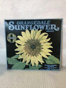 Orangedale Sunflower Brand Metal Tin Sign