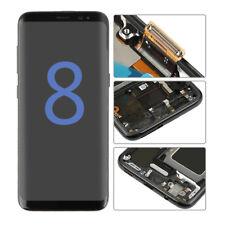 79cc31a5226 Negro Pantalla LCD Digitalizador De Pantalla Táctil Marco para Samsung  Galaxy S8 G950 G950F