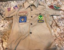 OFFICIAL BOY SCOUTS OF AMERICA TAN UNIFORM SHIRT - Youth Boys Medium