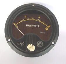 Vtg Westinghouse Millivolts Meter Gauge BAC 0-30 Volts