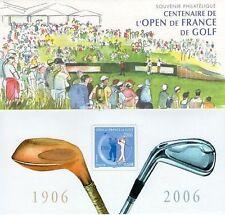 FRANCE BLOC SOUVENIR N° 13 CENTENAIRE L OPEN DE FRANCE DE GOLF NEUF SOUS BLISTER