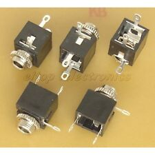 5x 3.5mm Stereo Jack Socket Panel Mount Connector #JS03
