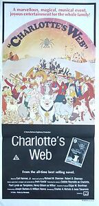 Charlotte's Web Original Cinema Release Daybill Vintage Movie Poster