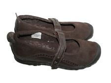 Girl Merrell Plaza Bandeau Kid Brown Suede Leather Mary Jane Shoe Size 6 Eur 37
