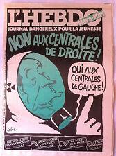 "Hara Kiri N°12 du 7/10/1981; ""journal dangereux pour la jeunesse"""