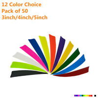 50x12 colors Sheild Cut Turkey Feather Archery Arrow Fletches Fletching  3/4/5''