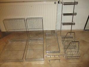 Küchenhelfer Edelstahl, Konvolut Korb Gitterschublade, für Küchenmöbel Wäsche ..
