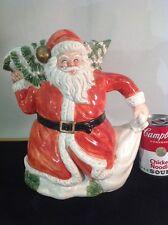 Vintage 1989 Fitz And Floyd Omnibus German Santa Claus pitcher Hand Painted