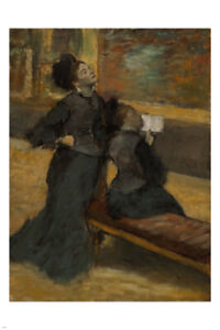 Edgar Degas VISIT TO A MUSEUM Fine Art Poster impressionist 24X36
