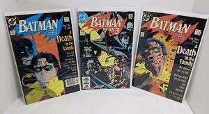 Batman: A Death in the Family #2, 3 + Year Three #1 - #427 #428 #436 (DC Comics)