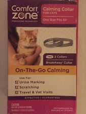 Comfort Zone Calming Collar For Cats 1 Pack One Fits All 2 collars New In Box