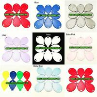 5 -100 Wholesale Helium // Air Balloons shape Weights MULTI Colour PACK BALOONS