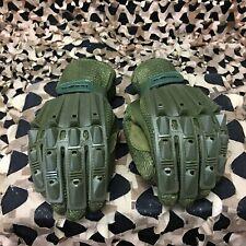 New Valken Alpha Full Finger Paintball Gloves - Olive - Small