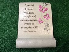 SPECIAL FRIEND BUTTERFLY GRAVESIDE ORNAMENT, GRAVE MEMORIAL REMEMBRANCE GIFT