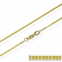 14ct Solid Yellow Gold 16 18 20 22 24 Inch Fine Spiga Necklace Chain Wide 1.1 mm
