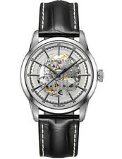NEW HAMILTON RAILROAD SKELETON AUTOMATIC 42MM SILVER H40655751