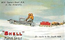 SHELL GAS MOTOR OIL CAPTAIN SCOTT ANTARCTIC ADVERTISING MODERN REPRO POSTCARD