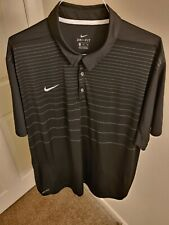 Men's NIKE Dri-Fit SMOOTH Black Polo Shirt 3XL XXXL BIG guc