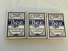LOT Vintage Bee No 92 Club Special Blue Back no 67 Extra Selected Playing Cards