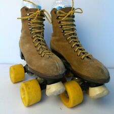 Orbit Tan Suede Roller skates Vintage 1960's Size 5 Uniquely Collectible History