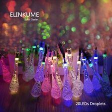 20LED RGB Solar Wassertropfen Lichterketten Outdoor Wasserdicht Party Dekoration