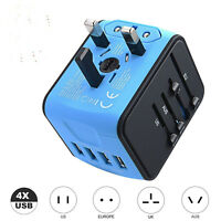 Universal Travel Power Adapter All-In-One International Fast Charger 4 USB Ports