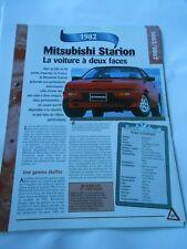 Mitsubishi Starion 1982 Fiche Technique Auto