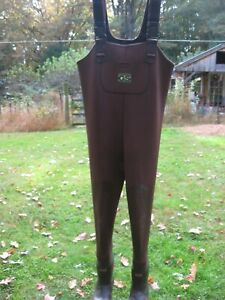 Gander Mt. Neopreme Rubber Bootfoot Chest Waders Size 10 Boot