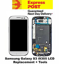 Samsung Galaxy S3 i9305 LCD Digitizer Touch Screen Frame Replacement White +Tool