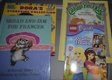 Lot of (4) Children's Books - Geared to a Little Girl's Interests- Dora Lego +