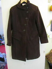 Dark Brown Fitted Look Vintage Next Knee Length Coat in Size 10