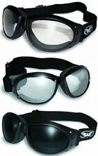 3 Padded ATV Motorcycle Goggles Googles + BAGS Super Dark Clear Clear Mirror NWT