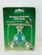 Fritz Hanging Half Ball with Bells Blue Green Bird Toy Small Medium  10353 NOS