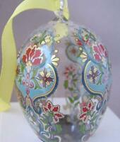 Hutschenreuther Germany Spring Easter Crystal Egg Ornament Glass Ei 2007