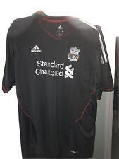 Liverpool FC Adidas Football Away Shirt 2011/12 Season - Size XXL VGC Black Grey