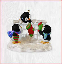 2010 Hallmark PENGUIN Ornament A FISHY WISH Hanging Stockings *Priority Ship*