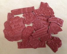 Unmounted Rubber Stamps, Christmas, Grab Bag, Christmas Cards, Seasonal, Holiday