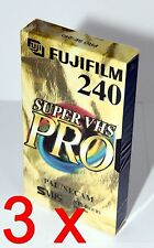 3 x Video Kassette Leer Fuji Super VHS Pro SE-240 SE 240 SVHS S-VHS = 11€/St.