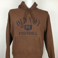 Old Navy Men Hoodie Size S Brown Football Long Sleeve D2