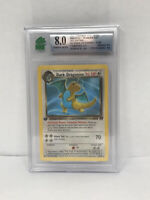2000 Pokémon Team Rocket First Edition Dark Dragonite Non Holo MNT 8 - WOTC PSA