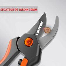 Secateur cisaille de Jardin 30mm antidérapants avec cran de sûreté Coupe Branche